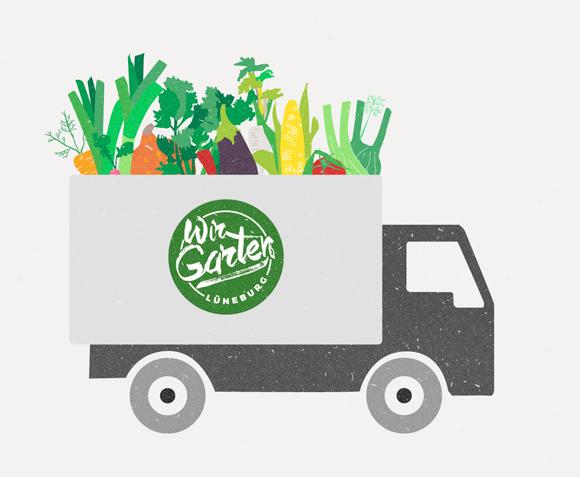 Wir Garten Illustration Lüneburg Gemüse Truck