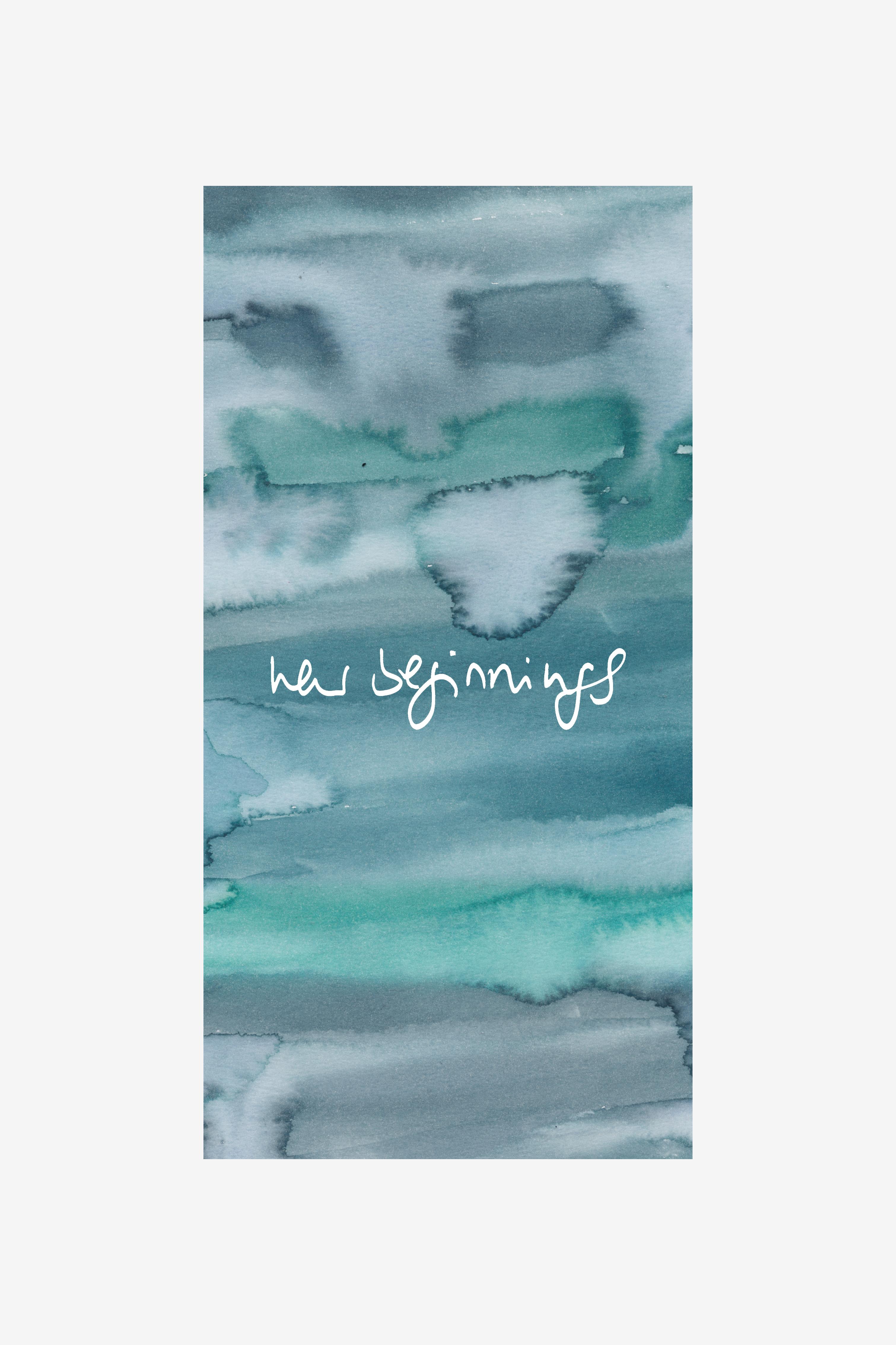 nadine bieg watercolor lettering new beginnings