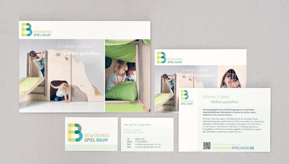 Bewegungsspielraum Corporate Design Werbemittel modulares Konzept