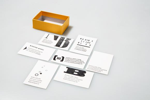 Visitenkarten - Nadine Bieg - Design - Braunschweig - Letterpress - Branding