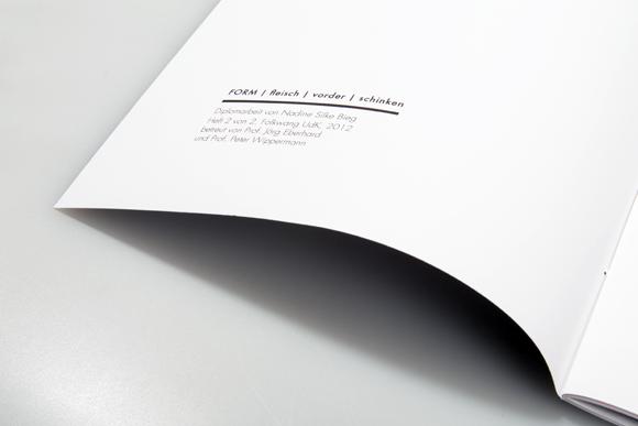 Editorial Design - Fadenheftung - Impressum - Formfleischvorderschinken