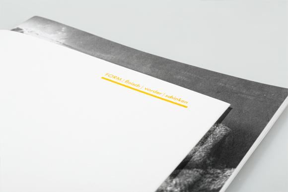 Editorial Design - Titel - Prägung - Formfleischvorderschinken