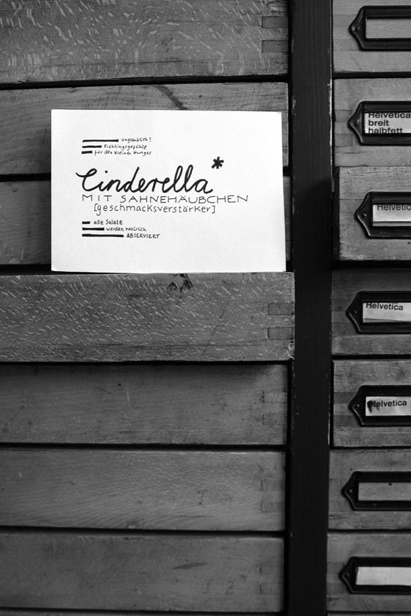 Cinderella - Formfleischvorderschinken - Poesie - Lettering