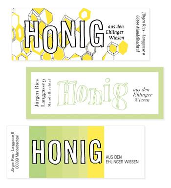 Design Honigetiketten Bio Honig Nadine Bieg
