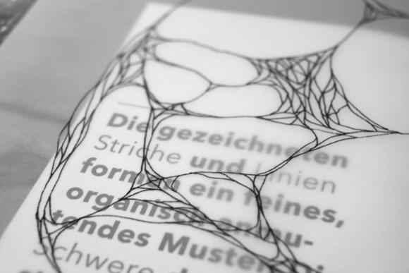 Ausstellungskatalog - Detail - Transparenz - Zeichnung
