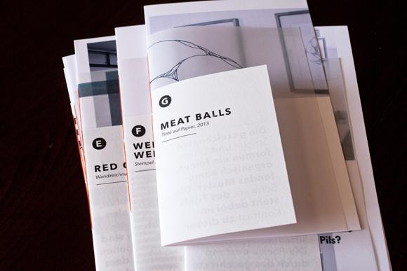 Meat Balls - Zeichnung - Editorial Design - Kunst - Ausstellungskatalog - a2