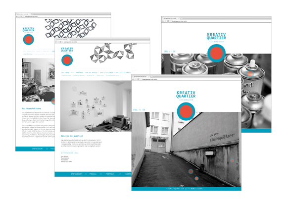 Kreativquartier Essen - Corporate Design - Webdesign - Browser