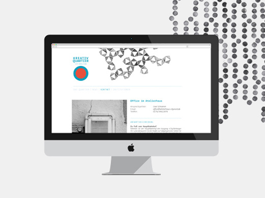 Kreativquartier Essen - Corporate Design - Webdesign - iMac