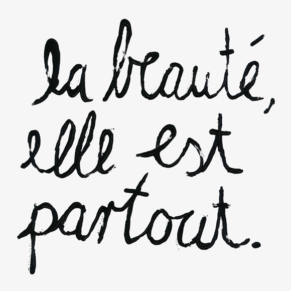 La beauté - Brush - Lettering - Zitat - Zeichnung - Monsieur Ibrahim - französisch