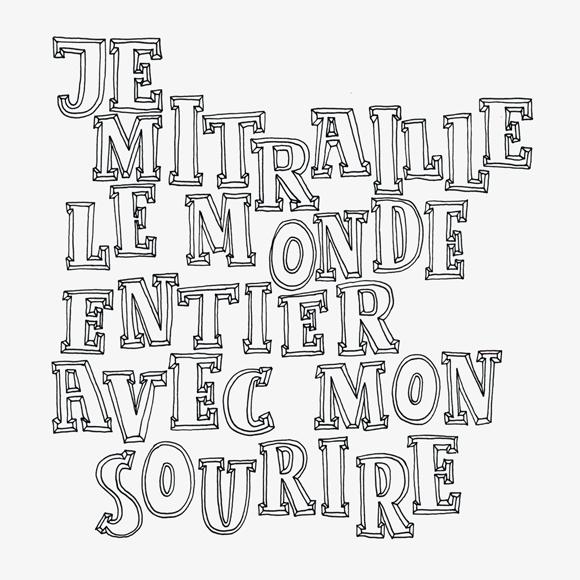sourire - Lettering - Zitat - Zeichnung - Monsieur Ibrahim - französisch