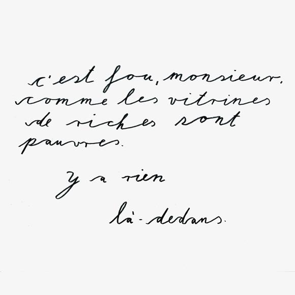 Monsieur - Lettering - Zitat - Zeichnung - Monsieur Ibrahim - französisch