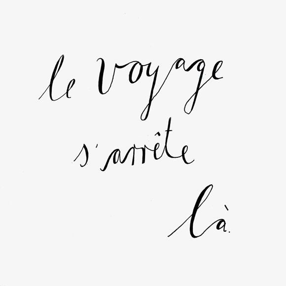 le voyage - Lettering - Zitat - Zeichnung - Monsieur Ibrahim - französisch