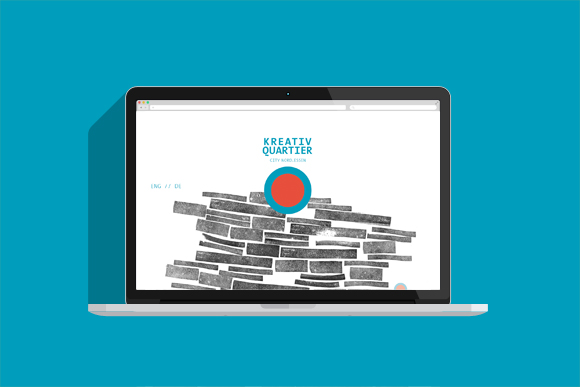 Kreativquartier Essen - Corporate Design - Webdesign - Muster