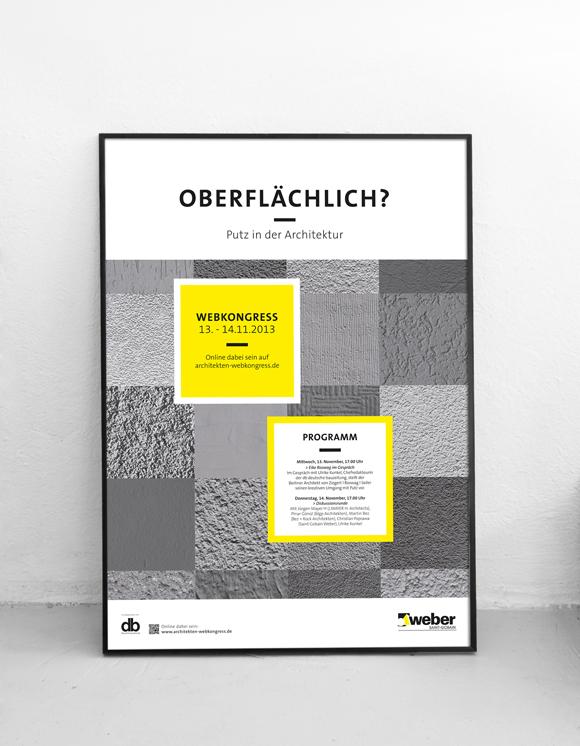 Saint Gobain Weber - Webkongress - Design - Poster - Plakat - Architektur