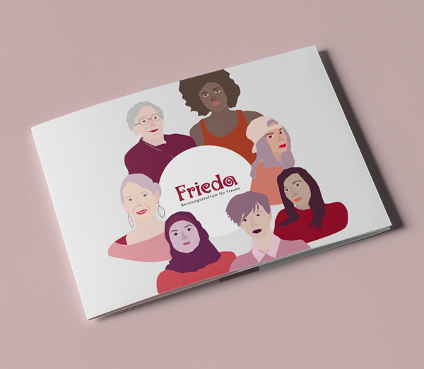 Cover Broschüre Frieda Frauenzentrum Beratungszentrum Berlin